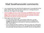 vlad soukhanovskii comments