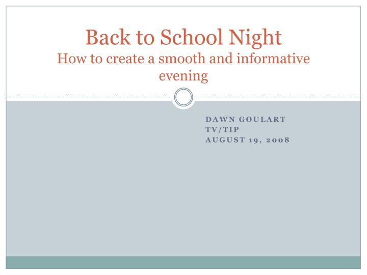 back to school night how to create a smooth and informative evening n.