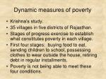 dynamic measures of poverty