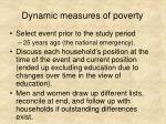 dynamic measures of poverty1