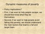 dynamic measures of poverty6