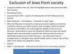exclusion of jews from society