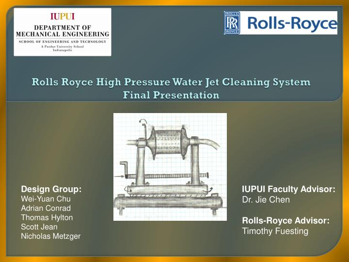 PPT - Rolls Royce High Pressure Water Jet Cleaning System Final