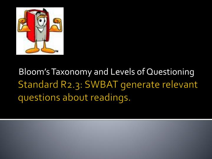 bloom s taxonomy and levels of questioning n.
