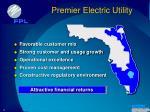 premier electric utility