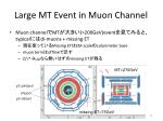 large mt event in muon channel