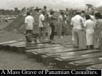 a mass grave of panamian casualties