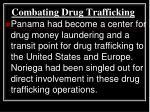 combating drug trafficking