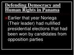 defending democracy and human rights in panama