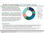 growth focused strategy pc core market strategy