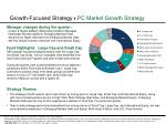 growth focused strategy pc market growth strategy