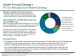 growth focused strategy pc tax managed core market strategy