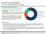 growth focused strategy pc tax managed equity strategy