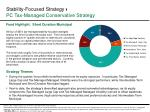 stability focused strategy pc tax managed conservative strategy