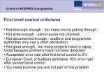 control in interreg iii programmes