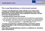 lead beneficiary control