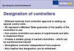securing the control framework