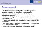 the audit authority