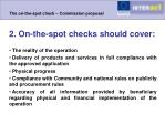the on the spot check commission proposal