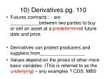 10 derivatives pg 110