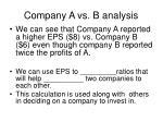 company a vs b analysis