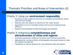 thematic priorities and areas of intervention ii