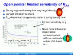 open points limited sensitivity of r aa