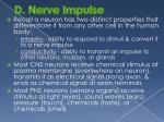 d nerve impulse