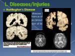 l diseases injuries