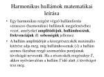 harmonikus hull mok matematikai le r sa