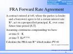 fra forward rate agreement
