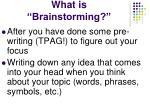 what is brainstorming