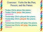 grammar verbs for the past present and the future1
