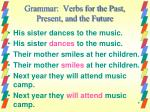 grammar verbs for the past present and the future3