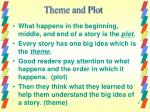 theme and plot