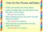 verbs for past present and future