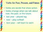 verbs for past present and future2