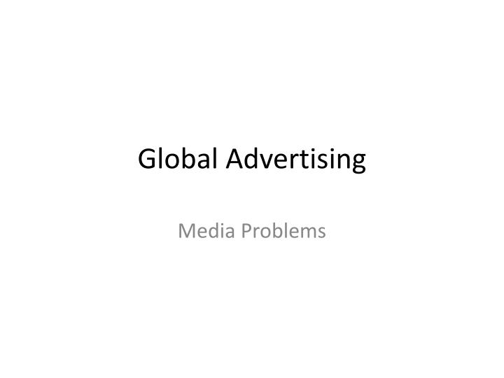 global advertising n.
