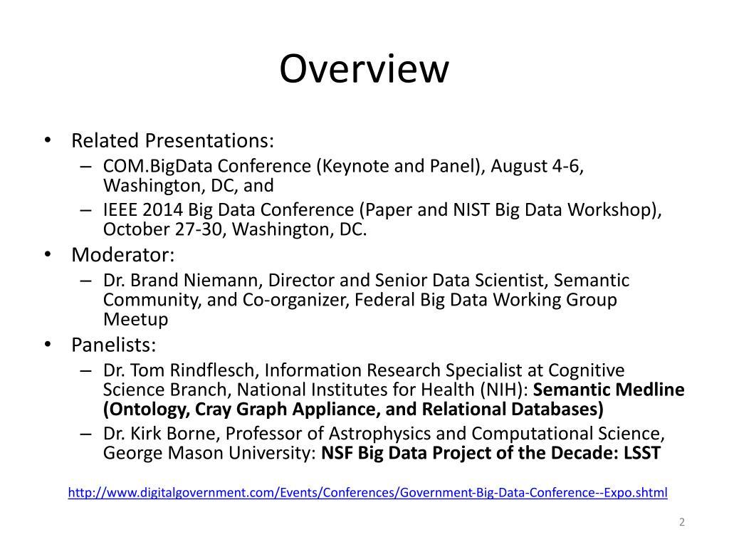 PPT - Dr  Brand Niemann Director and Senior Data Scientist