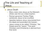 the life and teaching of jesus4
