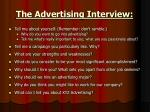 the advertising interview1