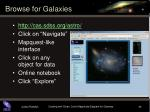 browse for galaxies