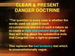 clear present danger doctrine