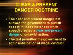 clear present danger doctrine1