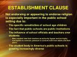 establishment clause2