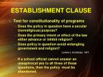establishment clause6