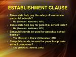 establishment clause7