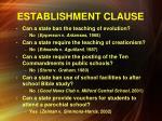 establishment clause8