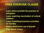 free exercise clause1