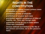 rights in the constitution